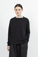 Heather Black Loopwheeler Pullover