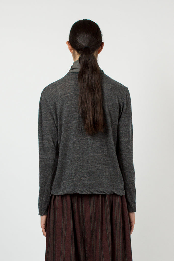 Charcoal Cowl Neck Top