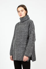 Disa Grey Ribbed Jumper