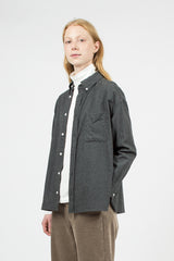 Brushed Cotton Chambray Oversized B.D. Shirt