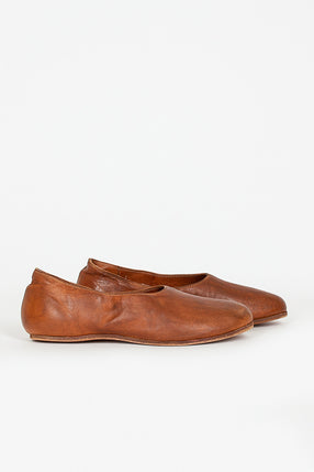 626R Full Grain Brown Ballerina Slip On