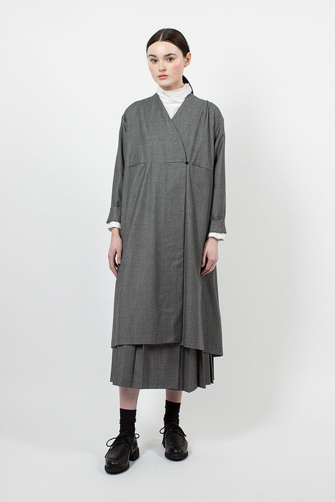 Grey Houndstooth Frock Robe