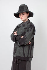 Dark Grey Plaid Mountain Hat