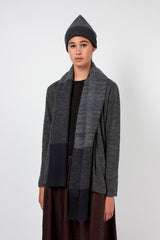 Charcoal/Navy Knitted Stole