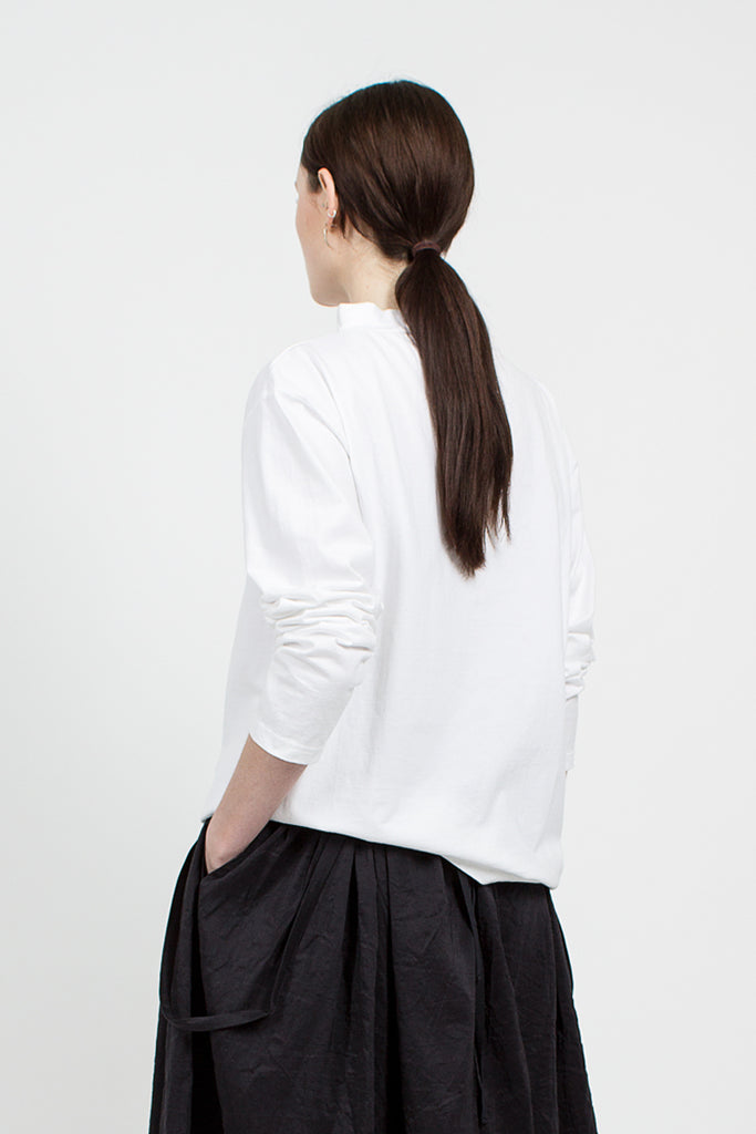White Loopwheeler Jersey Basque Shirt