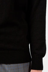 Casla Cashmere Roll Neck Black