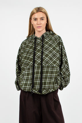 Humis Checked Olive Hoodie