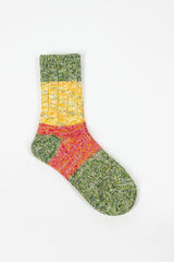 EK-1030 Stripe Knit Sock Green