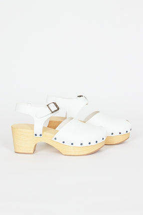 Leather Clog White