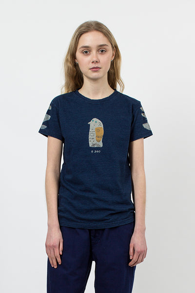 Penguin Harvey Print T-shirt Indigo