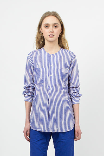 Lt Blue Wide Stripe Irving Shirt
