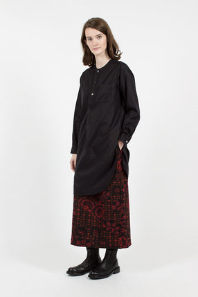 Black Cotton Dress Twill Irving Tunic