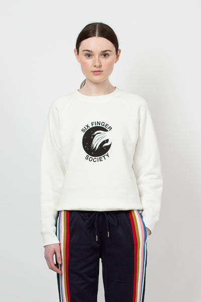 Ivory Six Finger Society Sweatshirt