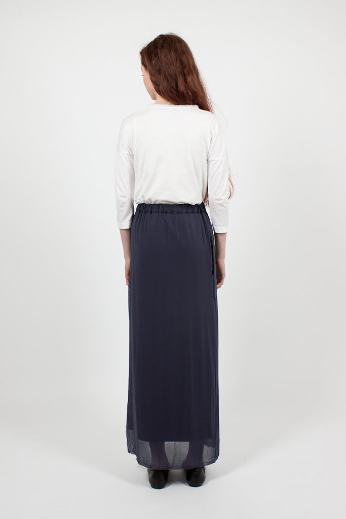 J254 Long Navy Skirt