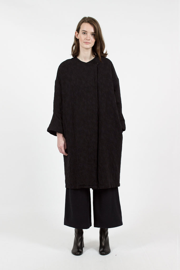 JC13 Jacquard Coat Black