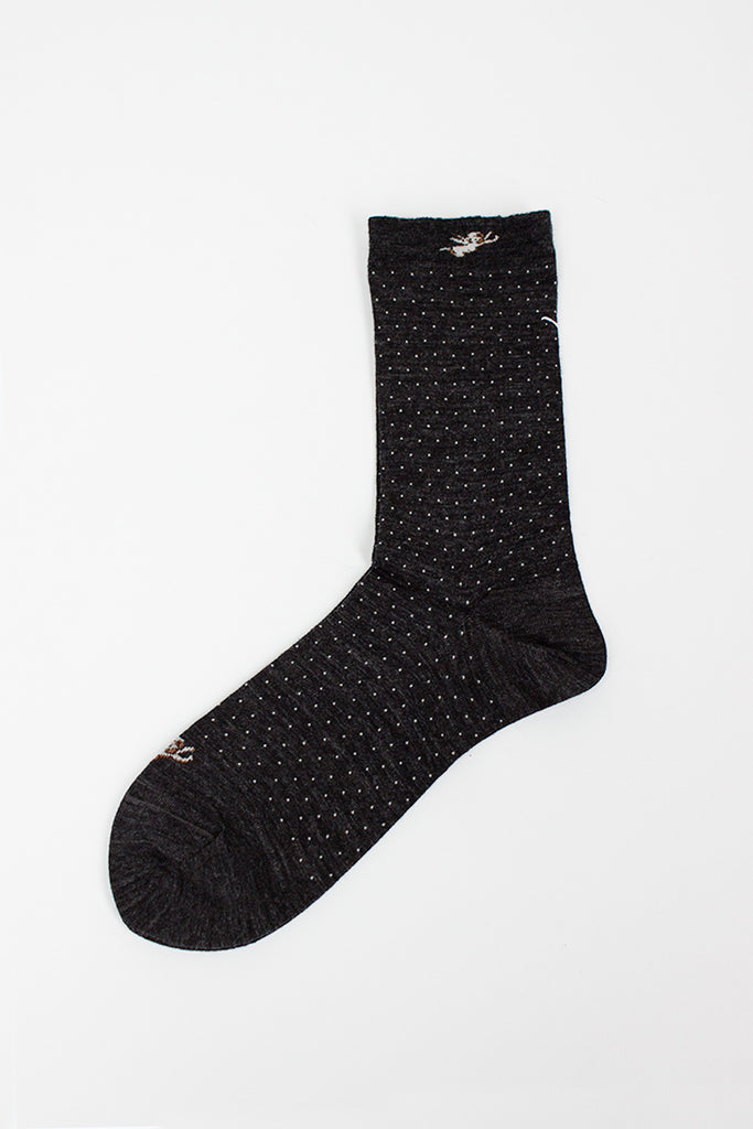 Angel Charcoal Sock