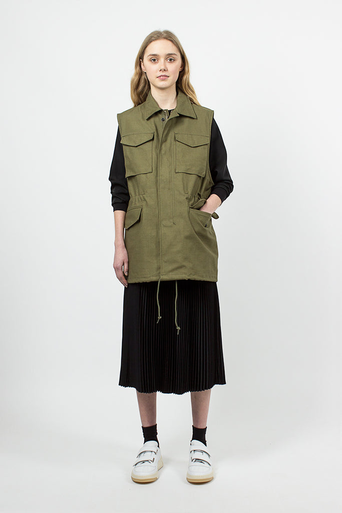 Sleeveless Field Jacket