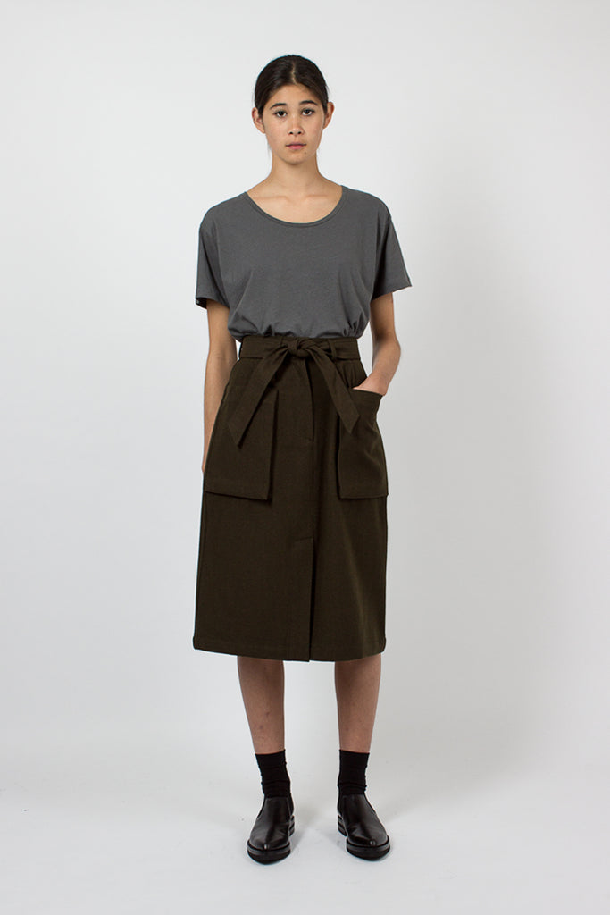 Khaki Belt Skirt