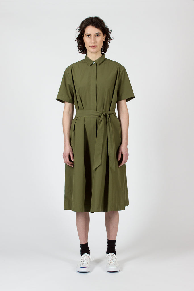Joan Olive Shirt Dress