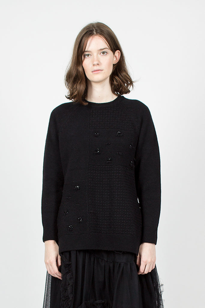 Beaded Easy Raglan Patchwork Jumper