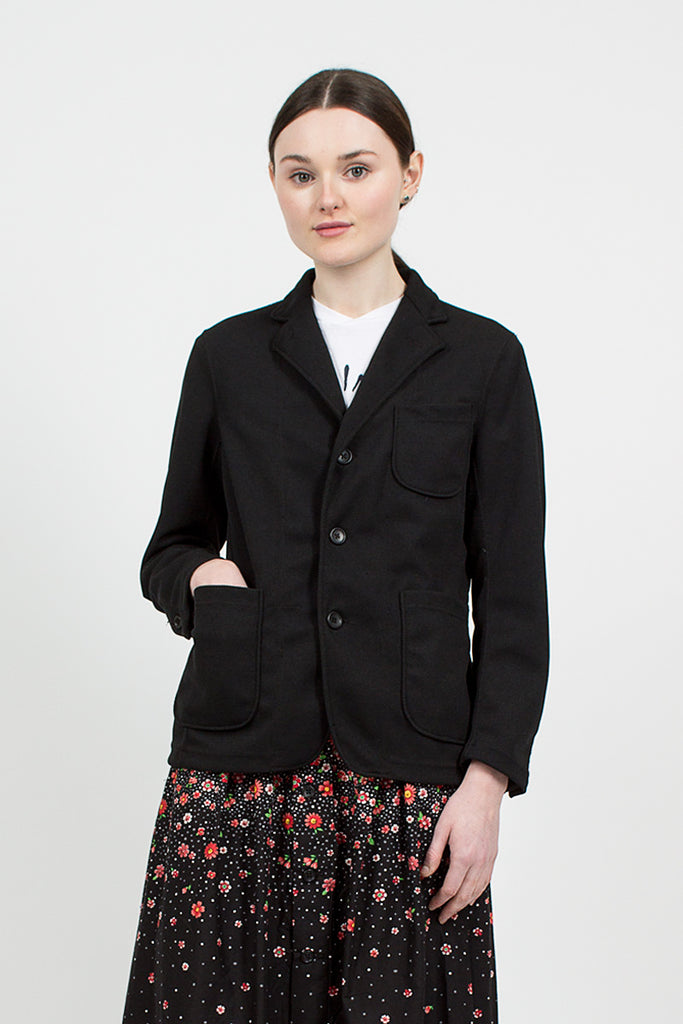 Black 7.75oz Diamond Knit Blazer