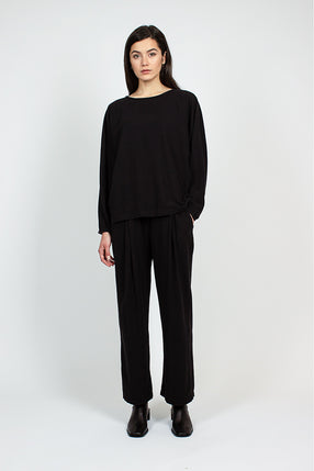 PP10 Pleated Black Pants