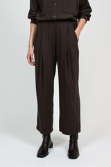 PP10 Pleated Dark Grey Pants