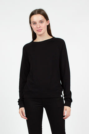 Deep Black Organic Sweatshirt