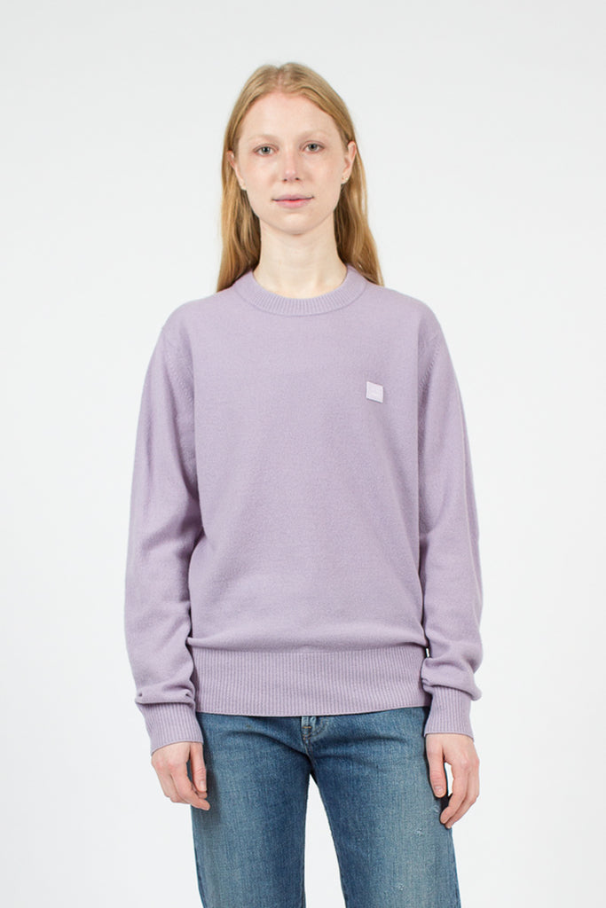 Mauve Purple Nalon Face Sweater