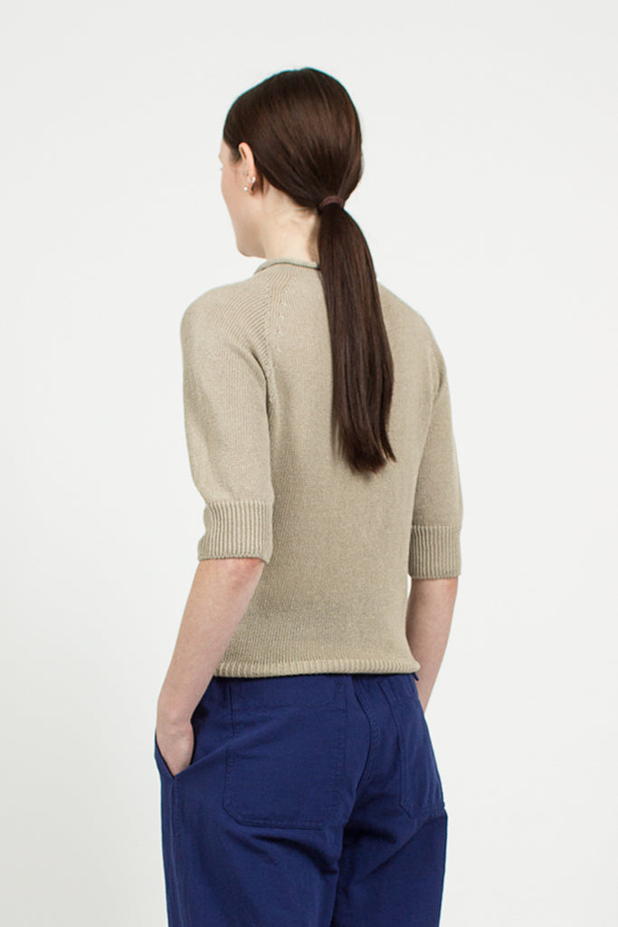 Cast-off Linen/Cotton Roll Neck String