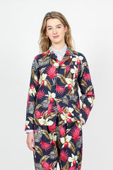 Loiter Hawaiian Floral Java Cloth Plaid Jacket
