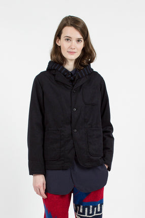 Dark Navy Wool Cotton Flannel Loiter jacket