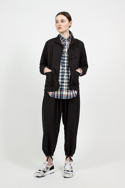 Black Handkerchief Linen Loiter Jacket