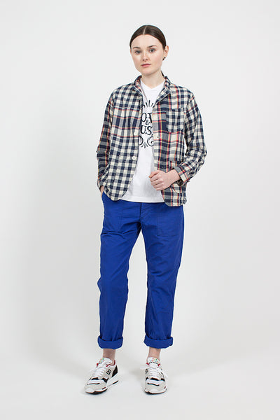 Navy/Red/Yellow Big Plaid Madras Loiter Jacket