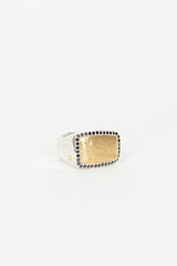 LuLu 18kt Yellow Gold and Black Diamond Frame Ring