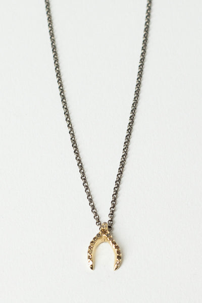 Yellow Gold Lucky Bone Necklace