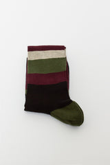 Dark Burgundy Stripe Sock