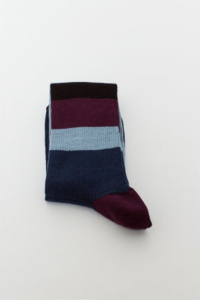 Vivid Blue Stripe Sock