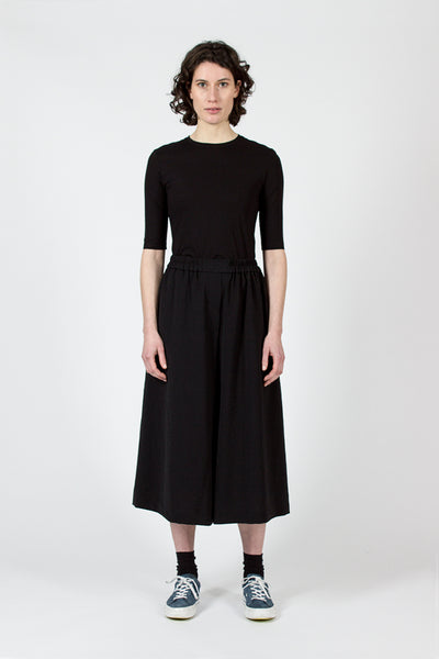 Black Misela Twill Culottes