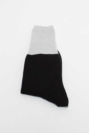 Light Grey/Black Contrast Sock