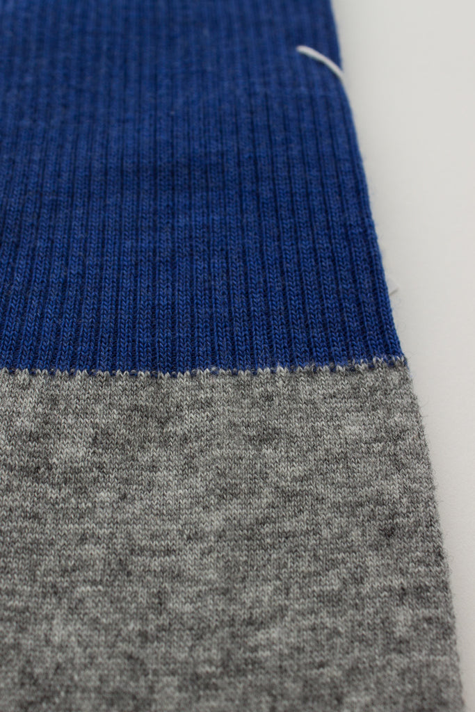 Blue/Light Grey Contrast Sock