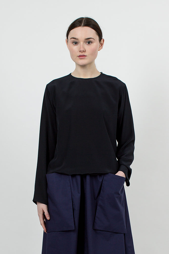 Balance Silk Blouse Midnight