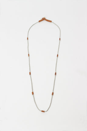 Mini-Me HL Silver/Tan Necklace
