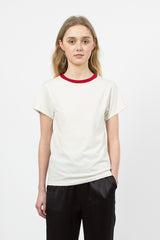 Mini Ringer T White/Red