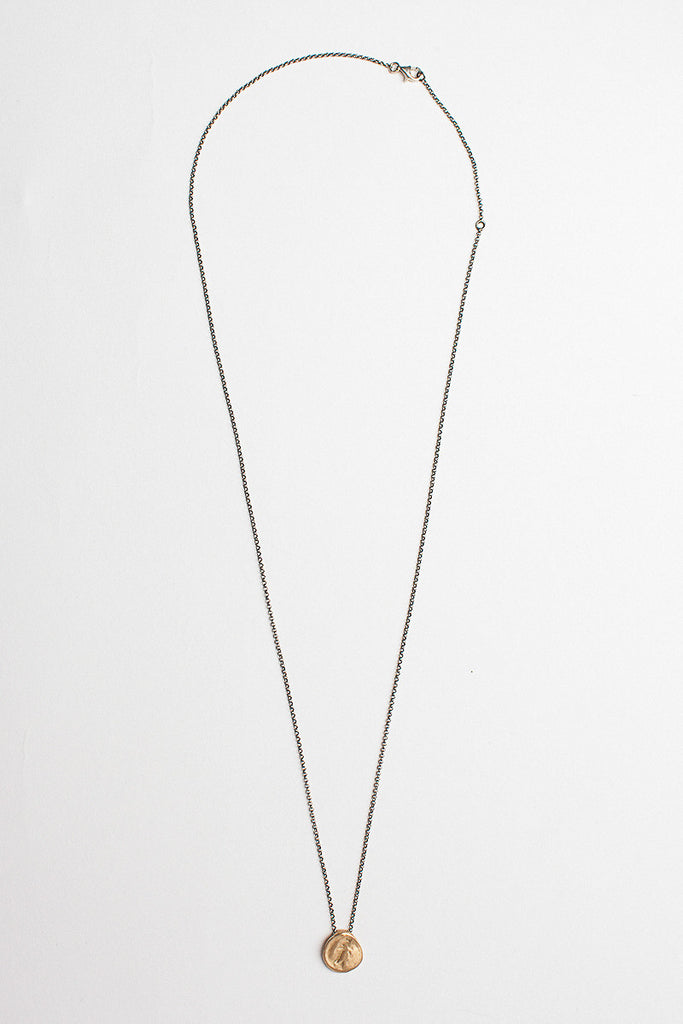 Yellow Gold Medal Pendant Necklace