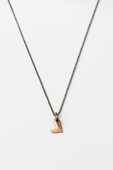 Pink Gold Full Heart Necklace