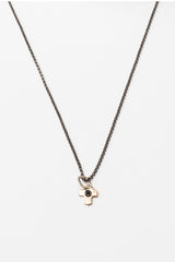 Pink Gold Glorious Cross Necklace