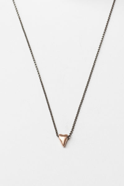 Pink Gold Sweet Heart Necklace
