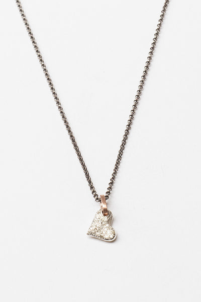 Silver Full Heart Necklace