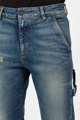 Dark Used Blue Carpenter Jean